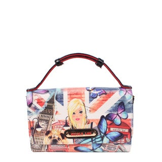 Nicole Lee London Girl Signature Print Crossbody Wallet/Mini Handbag
