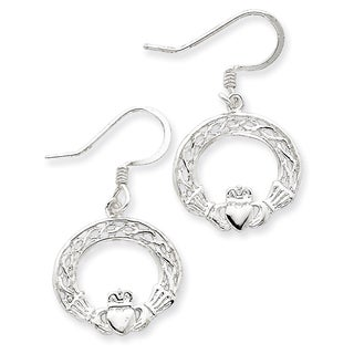 Sterling Silver Celtic Knot Claddagh Earrings by Versil