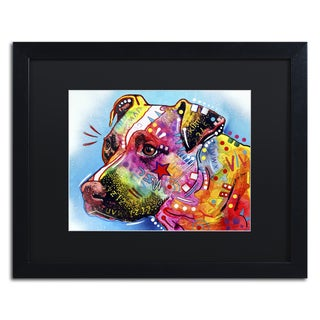 Dean Russo 'Pit Bull 1059' Matted Framed Art