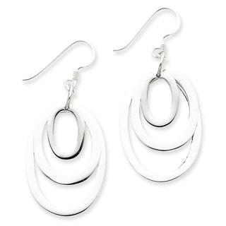 Sterling Silver Triple Oval Dangle Earrings by Versil