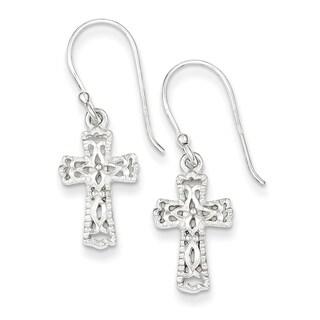 Sterling Silver Cross Earrings by Versil