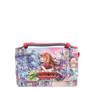 Nicole Lee Tulip Girl Signature Print Crossbody Wallet/Mini Handbag