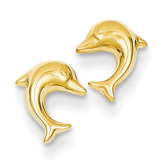 14k Small Dolphin Post Earrings by Versil