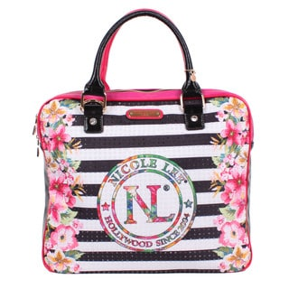 Nicole Lee Stripe Print Laptop Tote Bag