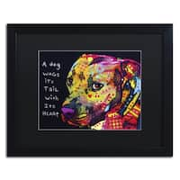 Dean Russo 'Gratitude Pitbull' Matted Framed Art