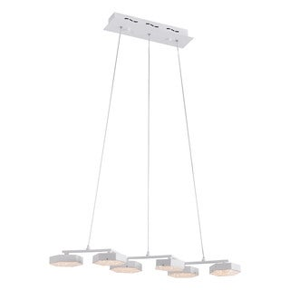 Zuo White Dunk LED Ceiling Lamp with Acrylic Shade