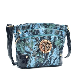 Dasein Three Layer Zippers Messenger Bag