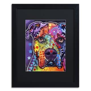 Dean Russo 'American Bulldog 121609' Matted Framed Art