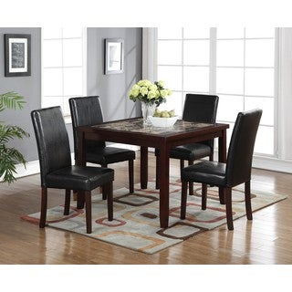 LYKE Home Aria 5-Piece Square Pub Dining Set