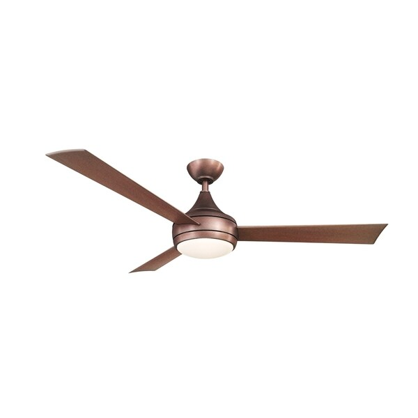 matthews fan company donaire brushed bronze paddle fan with led