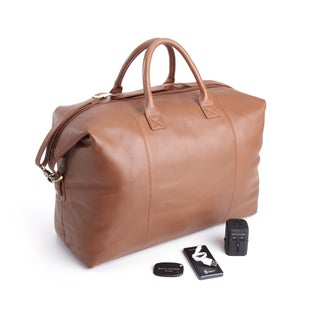 Royce Leather 4-piece Duffel Bag and Travel Accessory Set