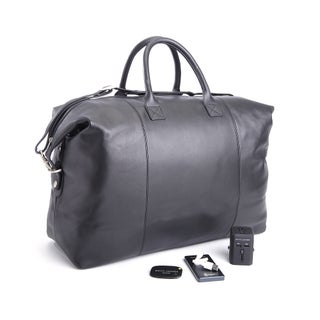Royce Leather 4-piece Duffel Bag and Travel Accessory Set (2 options available)