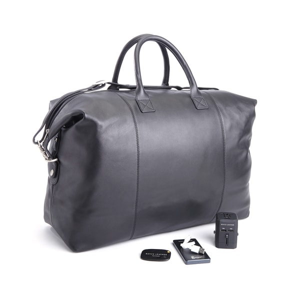 Shop Royce Leather 4-piece Duffel Bag and Travel Accessory Set - Free  Shipping Today - Overstock.com - 12206350 b709e36bb2960