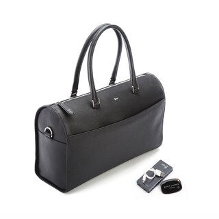 Royce Leather Barrel Bag Travel Set
