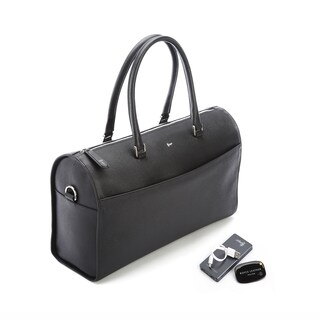 Royce Leather Barrel Bag Travel Set (2 options available)