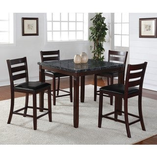 LYKE Home Alexa 5-Piece Square Pub Dining Set