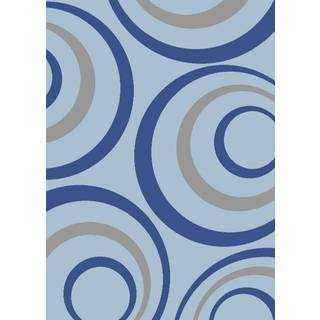 Persian Rugs Abstract Circled Multicolor Area Rug (4' x 5'3)