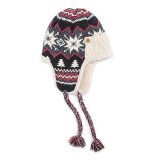 Muk Luks Women's Polyester Furpa/ Acrylic Snowflake Nordic Trapper Hat