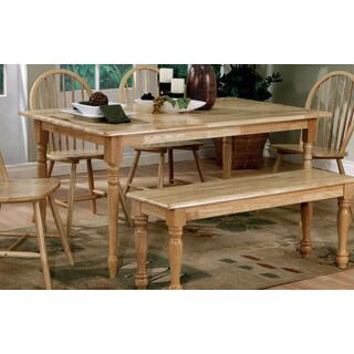 Coaster Company Natural Natural Butcher Block Farm Table with Turned Legs