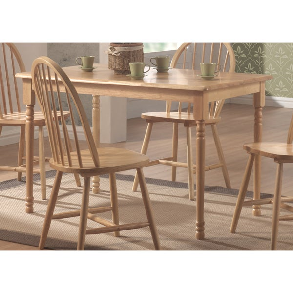Coaster Company Wood Natural Butcher Block Farm Dining Table Brown Free Shipping Today 12206459