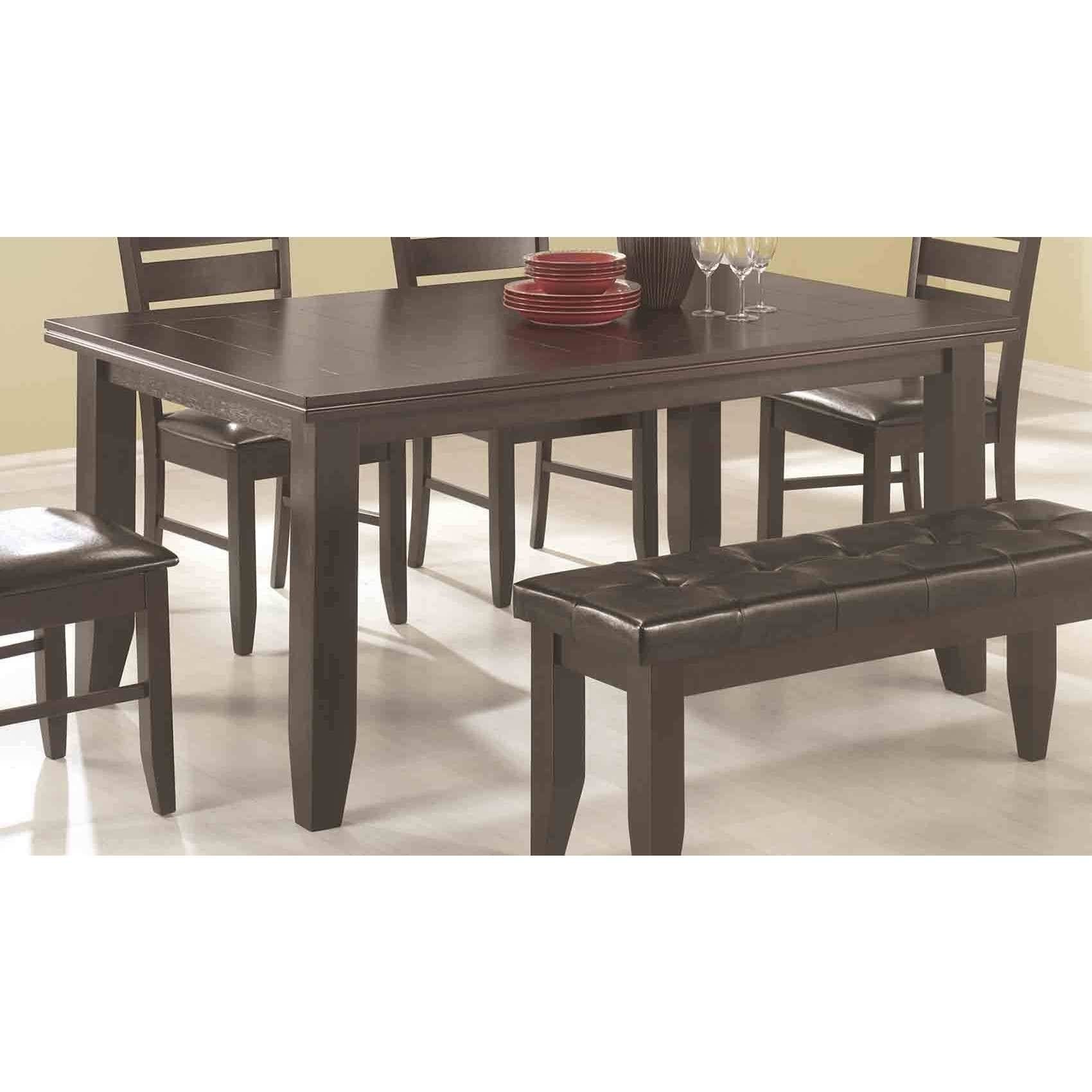 Coaster Company Cappuccino Dining Table 42 X 30 X 66 Overstock 12206469
