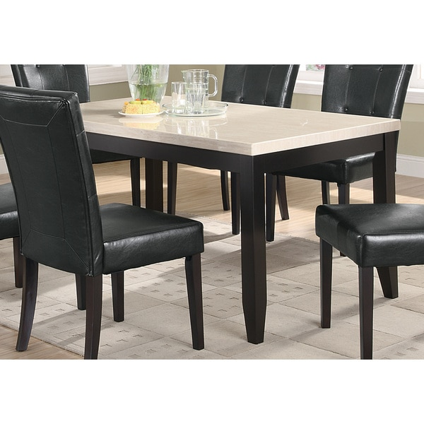 Faux Marble Table From Big Lots: Coaster Company Cappuccino Faux Marble Dining Table