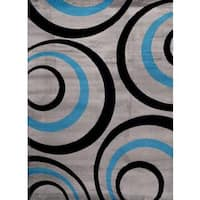 Persian Rugs 1017 Turquoise Area Rug - 5'2 x 7'2
