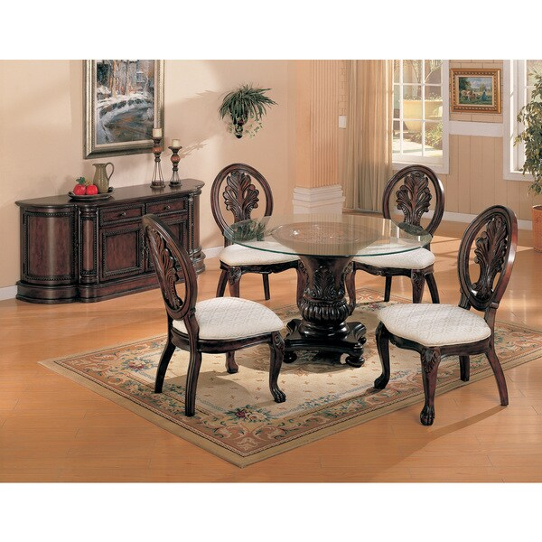 Shop Coaster Fine Furniture Nelms Walnut Round Dining: Coaster Company Cherry Carved Dining Table Base