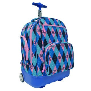 Pacific Gear Treasureland Argyle Hybrid Lightweight Rolling Backpack