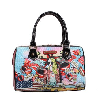 Nicole Lee Pop Girl Print Boston Shoulder Handbag