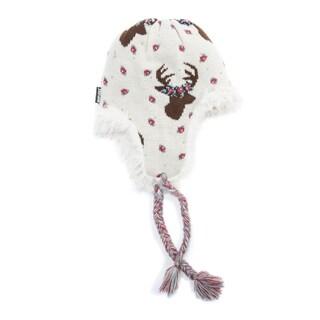 Muk Luks Women's Acrylic/ Polyester Faux Fur Deer Tassel Helmet