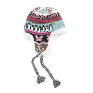 Muk Luks Women's Acrylic/ Polyester Faux Fur Fairisle Trapper Hat
