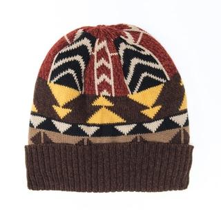 Muk Luks Women's Acrylic Colorblock Geo Knit Cuff Cap