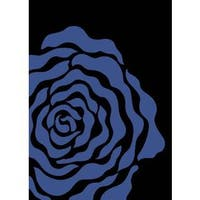 Persian Rugs Floral Light Blue Black Area Rug - 7'10 x 10'6