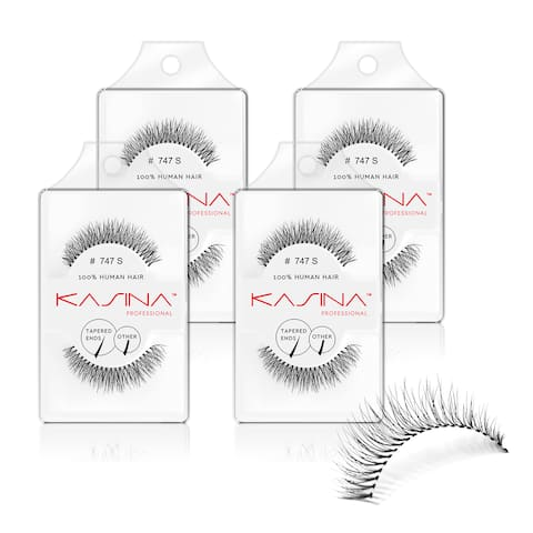 Kasina 747S Tapered False Eyelashes (Pack of 4)