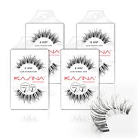 Kasina WSP Tapered-end False Eyelashes (Pack of 4)