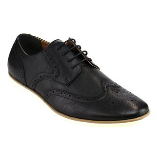 Arider AD02 Men's Brogued Wingtip Four Eye Lace-up Flat Heel Oxfords