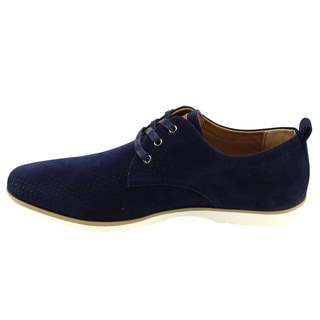 Arider AD03 Men's Perforated Lace-up White Sole Flat Heel Oxfords