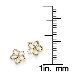 14k Plumeria Post Earrings by Versil