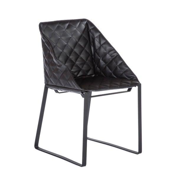 Harper Leatherette Dining Chair Black: Shop Hans Andersen Home Bailey Black Leatherette Dining