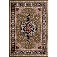 Persian Rugs Oriental Traditional Muilti Colored Area Rug (5'2 x 7'2)