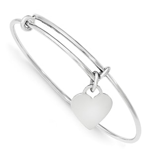 Sterling Silver Heart Dangle Bangle by Versil