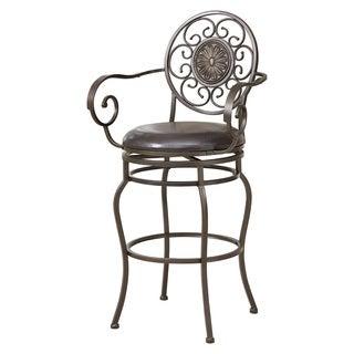 Waterson Padded Back Swivel Bar Stool With Arms Free