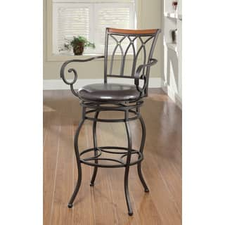 Shop Powell Aberdeen Counter Stool With Arms Free