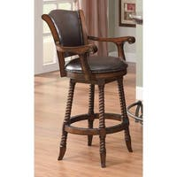 Coaster Company Red Cherry Wood Bar Stool