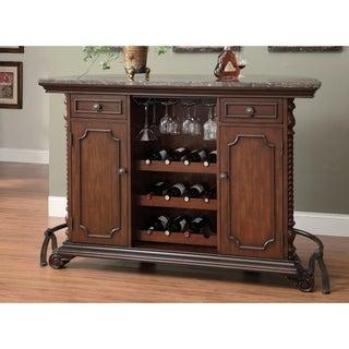 Cherry-finish Wood Home Bar