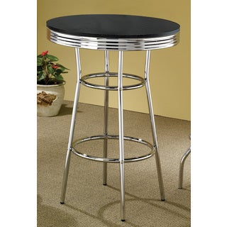 Coaster Company Silver Metal/ Wood Bar Table