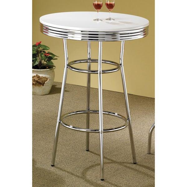 Clay Alder Home Amelia Retro Chrome Finish Bar Table
