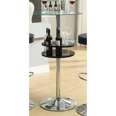 "Strick & Bolton Willem Black Metal Bar Table - 44"" x 23.50"""