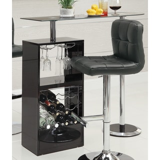Coaster Company Revolving Bar Table in Black